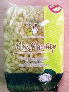Безглютеновые макароны рисовые рожок ТМ Макмастер