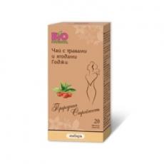 Чай с травами и ягодами годжи (имбирь) «BioNational» 40 гр.