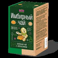 Чай имбирный зелёный с апельсином «BioNational»  34 гр.