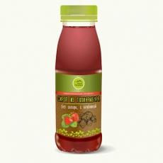 Натуральный сироп из топинамбура без сахара с клубникой